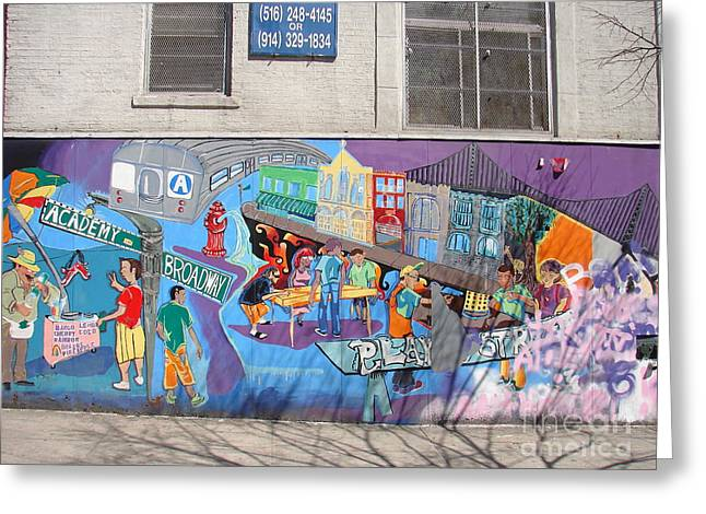 Greeting Card featuring the photograph Academy Street Mural by Cole Thompson