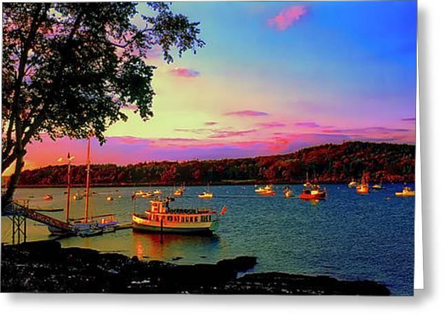 Acadia Bar Harbor Sunset Cruises.tif Greeting Card