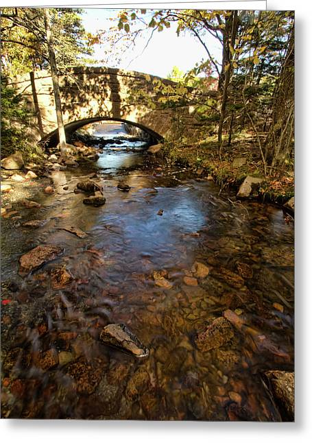 Acadia Bridge Greeting Card by Alexander Mendoza