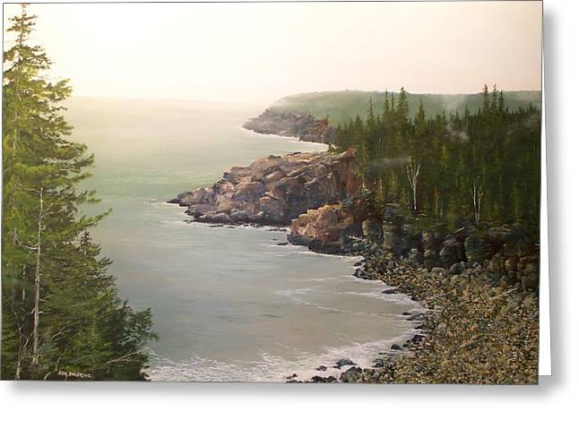 Acadia Maine Morning Mist Greeting Card