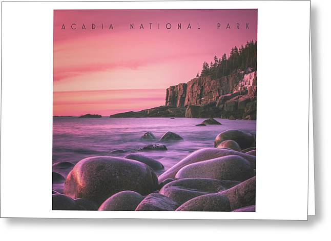 Acadia National Park Greeting Card by Chad Tracy