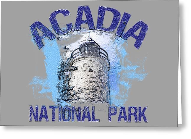 Acadia National Park Greeting Card by David G Paul
