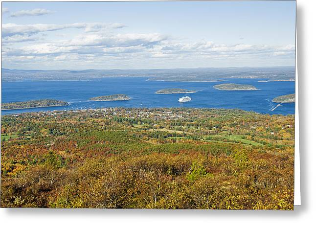 Acadia National Park In Autumn, Maine Greeting Card by James Forte