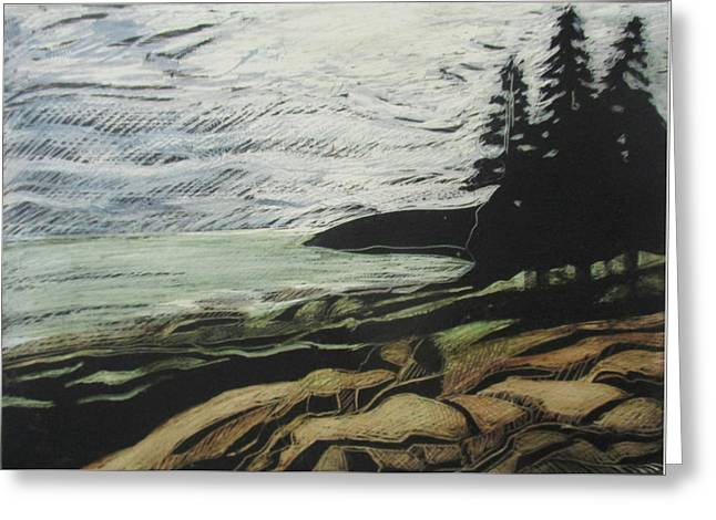 Acadia - Ocean Path View Greeting Card by Grace Keown