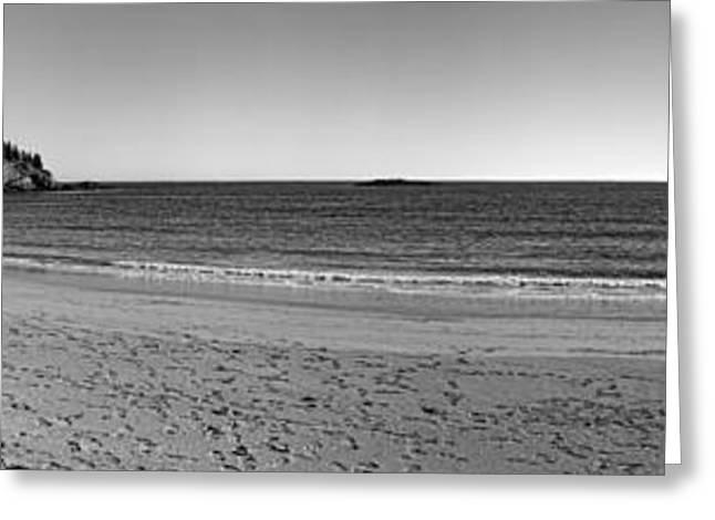 Acadia Sand Beach Panorama Greeting Card