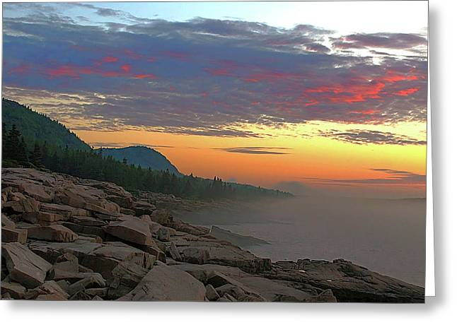 Acadia Sunrise  Greeting Card