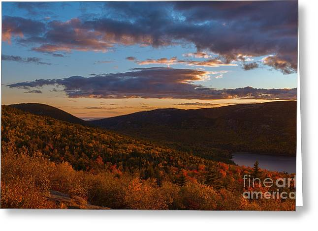 Acadia Sunset Greeting Card