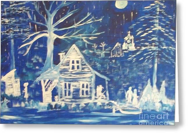 Acadian Blue Willow Greeting Card by Seaux-N-Seau Soileau