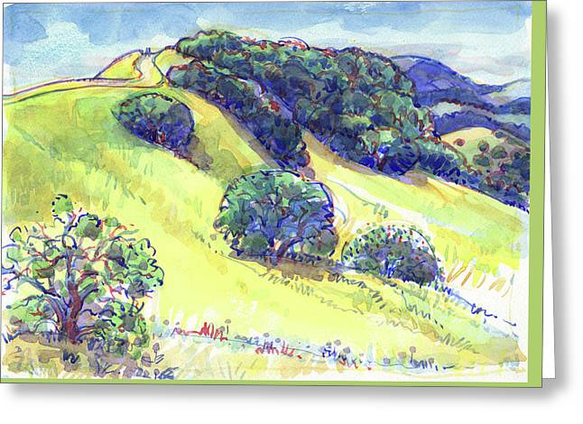 Greeting Card featuring the painting Acalanes Ridge, Lafayette, Ca by Judith Kunzle