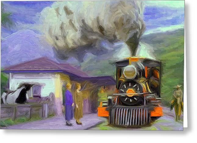 Acarau Steam Train Station Greeting Card