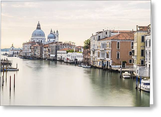 Accademia Bridge Greeting Card by Marco Missiaja