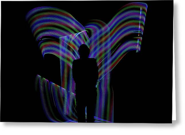 Accendance Light Painting Greeting Card
