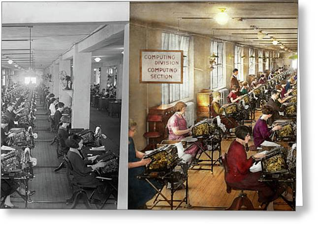Accountant - The Enumeration Division 1924 - Side By Side Greeting Card