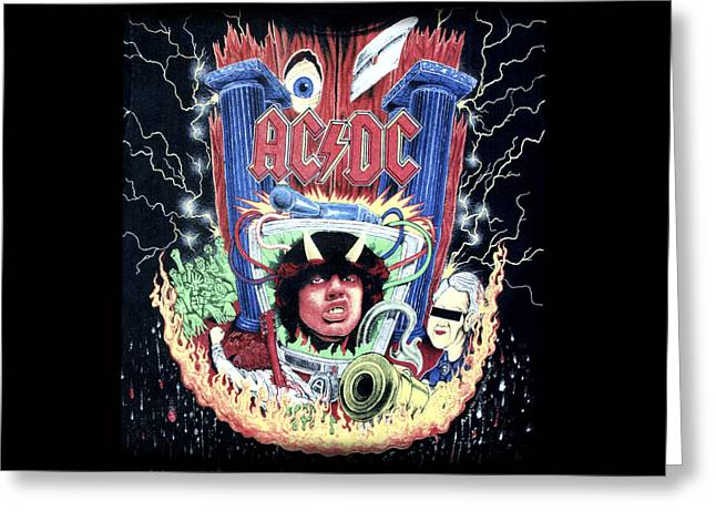 Acdc Greeting Card by Gina Dsgn