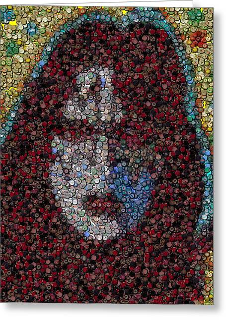 Ace Frehley Poker Chip Mosaic Greeting Card
