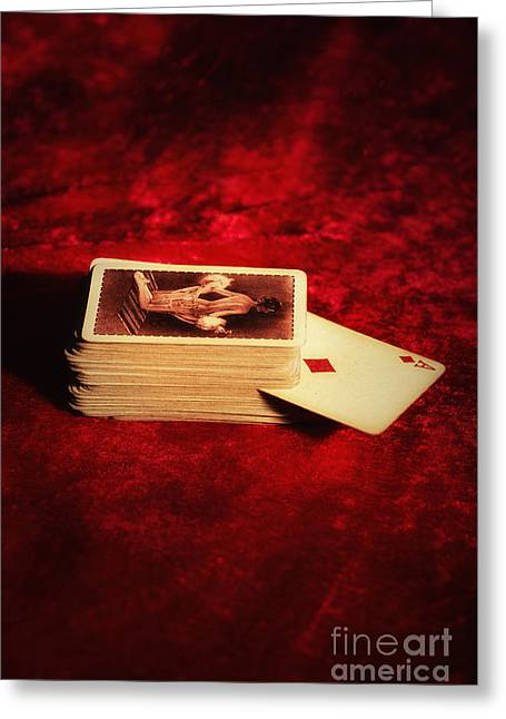 Ace Of Diamonds Greeting Card by Amanda Elwell