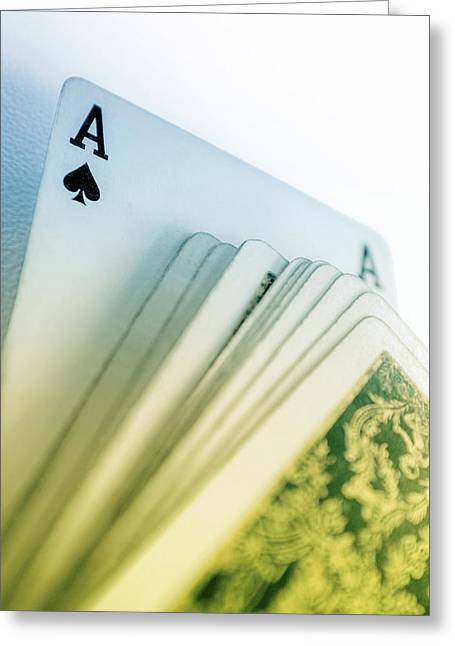 Ace Of Spades Greeting Card by Carlos Caetano