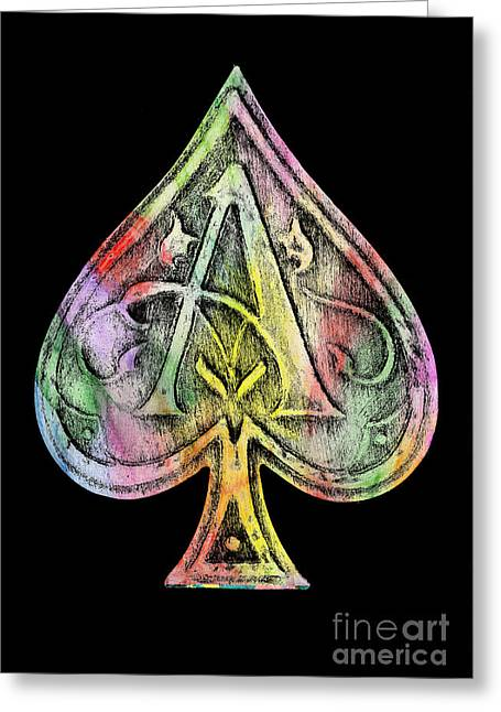 Ace Of Spades Champagne Greeting Card by Jon Neidert