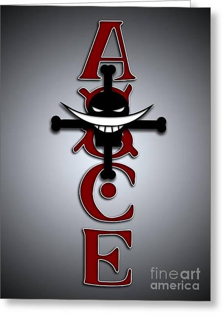 Ace Tattoo Greeting Card by Jpmdesign