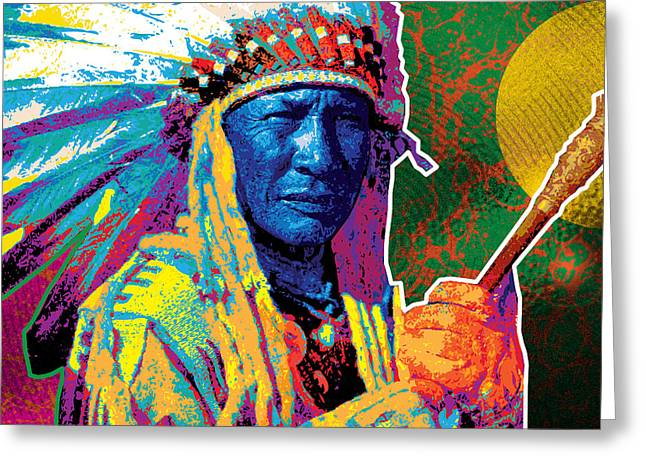 Aceca Indian Chief Greeting Card