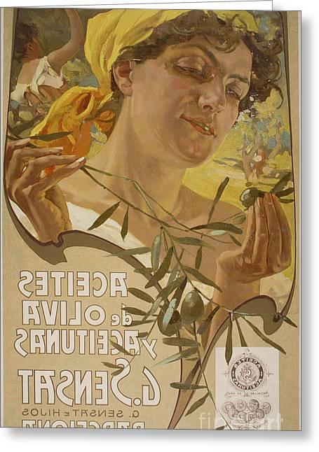 Aceites De Oliva Y Aceitunas Greeting Card