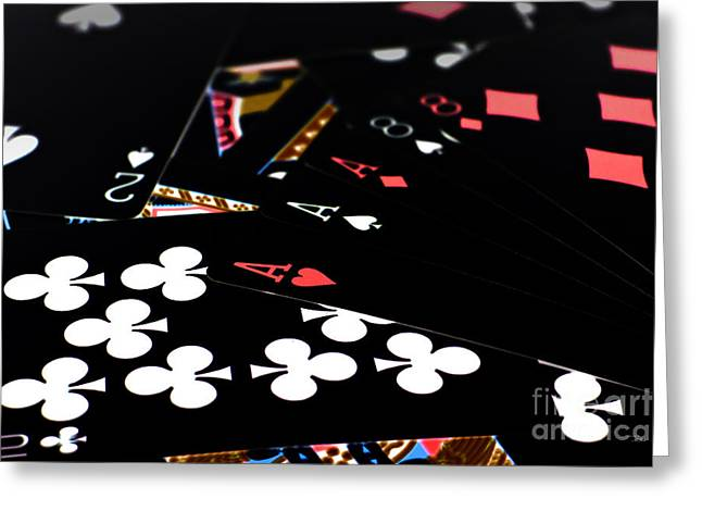 Aces And Eights Greeting Card