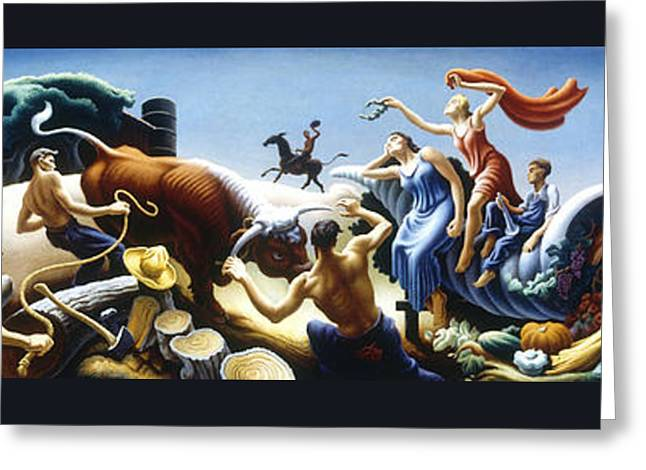 Achelous And Hercules Greeting Card by Pg Reproductions