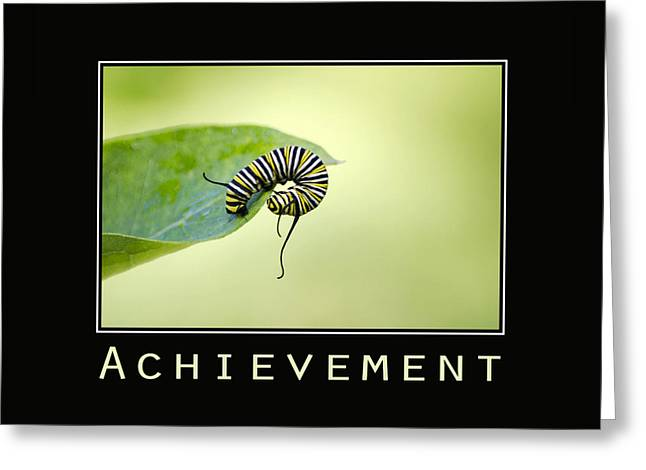 Achievement Inspirational Poster Greeting Card by Christina Rollo