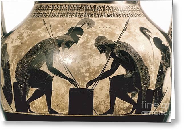 Achilles & Ajax, C540 B.c Greeting Card by Granger