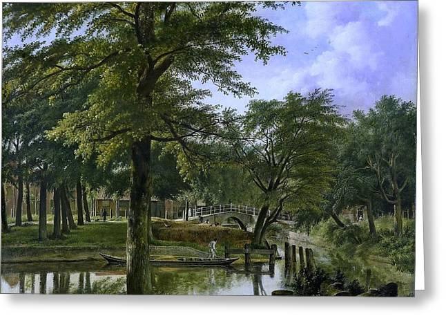 acht bij het Bolwerk te Haarlem Greeting Card by Hendriks