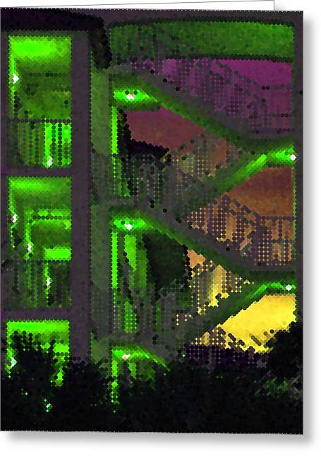 Acid Glow Greeting Card by Rose  Hill