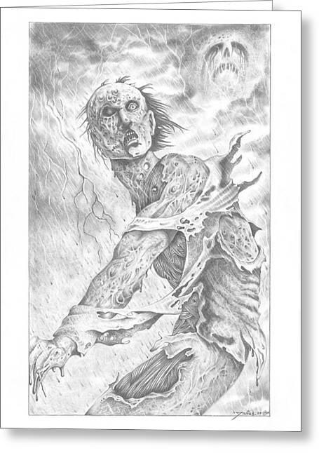 Acid Rain Greeting Card by Julian  B