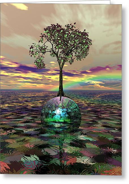 Acid Tree Greeting Card