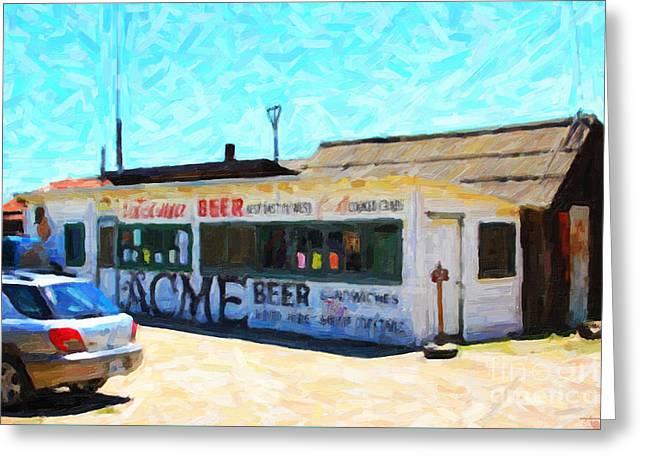 Acme Beer At The Old Lunch Shack At China Camp Greeting Card by Wingsdomain Art and Photography
