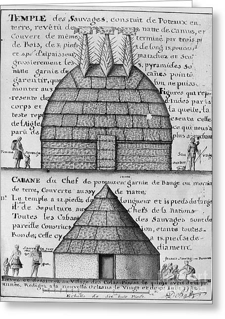 Acolapissa Temple & Cabin Greeting Card by Granger