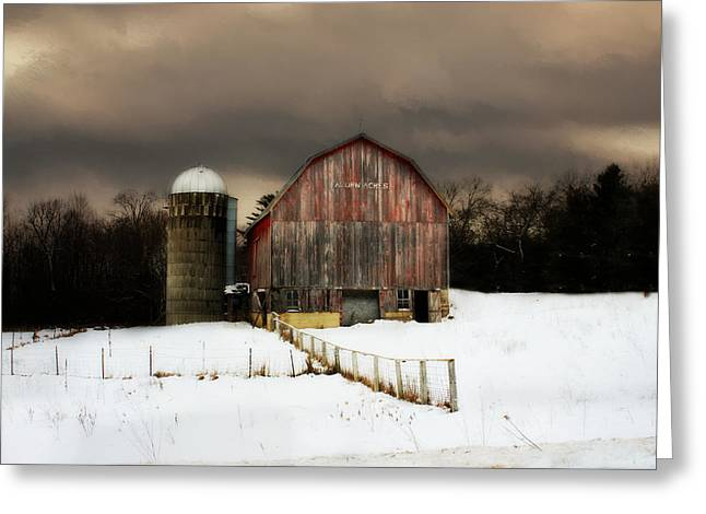 Acorn Acres Greeting Card by Julie Hamilton