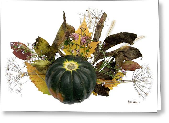 Acorn Squash Bouquet Greeting Card by Lise Winne