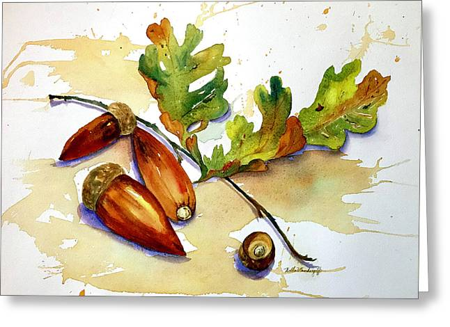 Acorns And Leaves Greeting Card