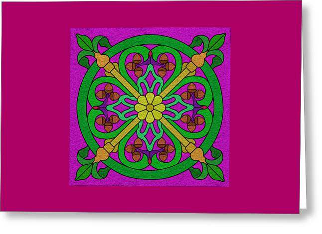 Acorns On Hot Pink Greeting Card