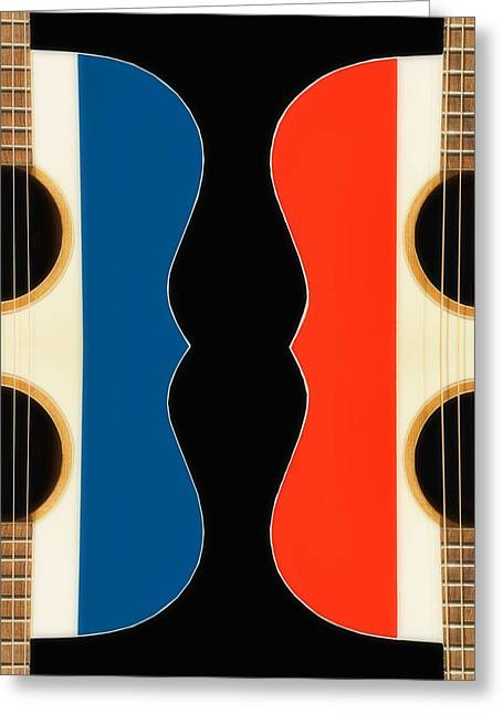 Acoustic Conversation - Guitar Greeting Card by Nikolyn McDonald