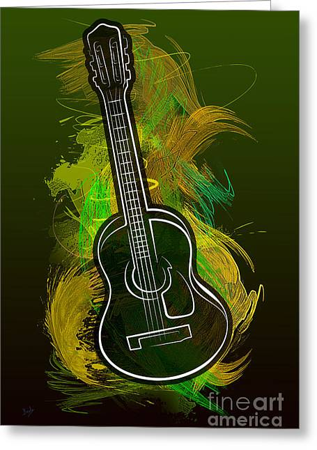 Acoustic Craze Greeting Card