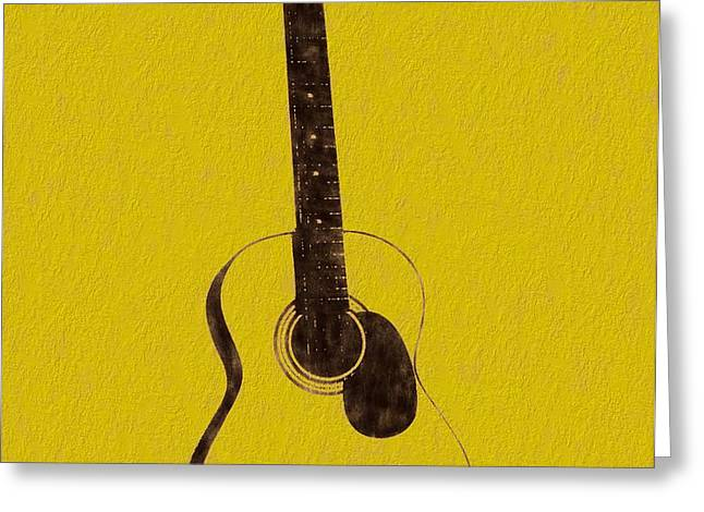 Acoustic Guitar Greeting Card by Dan Sproul