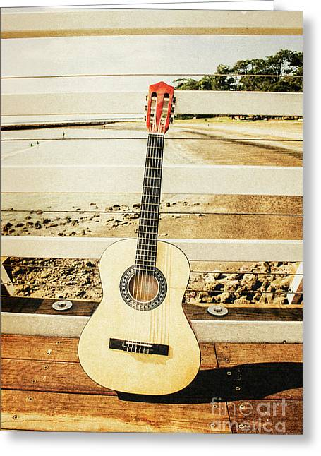 Acoustic Guitar Still Life Art Greeting Card by Jorgo Photography - Wall Art Gallery