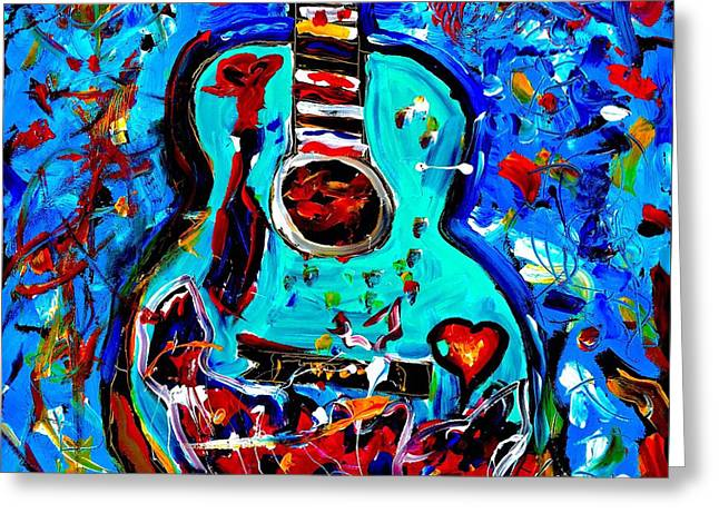 Acoustic Love Guitar Greeting Card