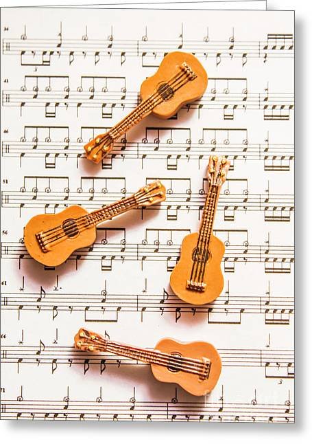 Acoustic Quartet Greeting Card by Jorgo Photography - Wall Art Gallery