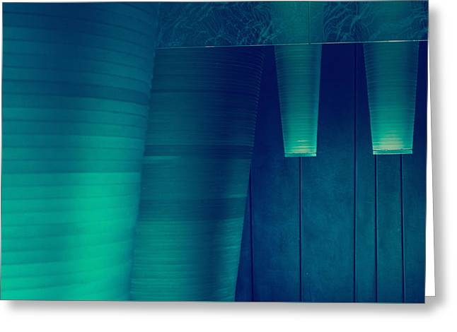 Greeting Card featuring the photograph Acoustic Wall by Bobby Villapando