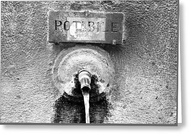 Acqua Potabile Greeting Card