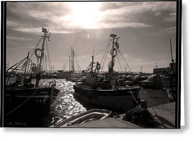 Acre  Fishing Port Greeting Card