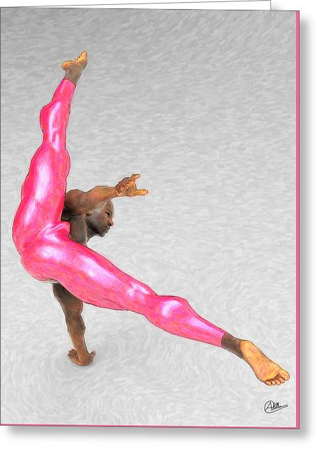 Acrobatic Dancer Greeting Card by Quim Abella