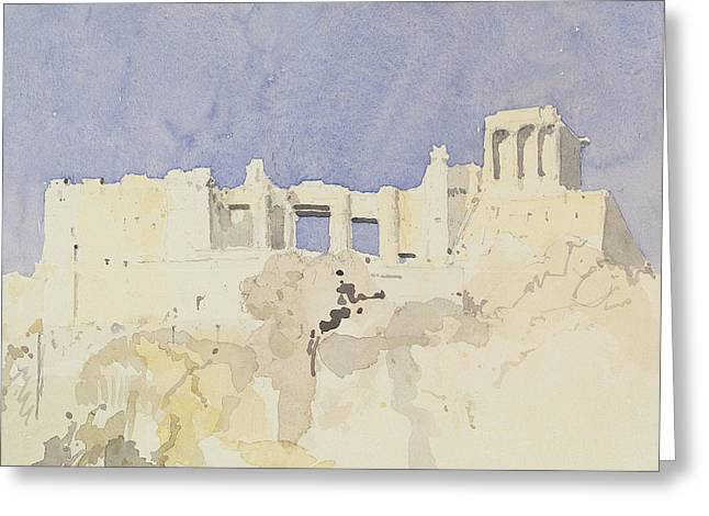 Acropolis   Athens Greeting Card by Charlie Millar